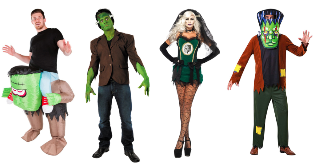 frankenstein kostume til mænd frankenstain kostume til kvinder grønt halloween kostume