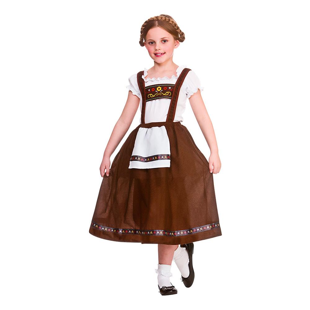 BAYERSK PIGE BØRNEKOSTUME - Oktoberfest kostume til børn og baby