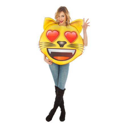 emoji kostume kærlig kat emoji hjerter i øjnene smiley kostume til voksne