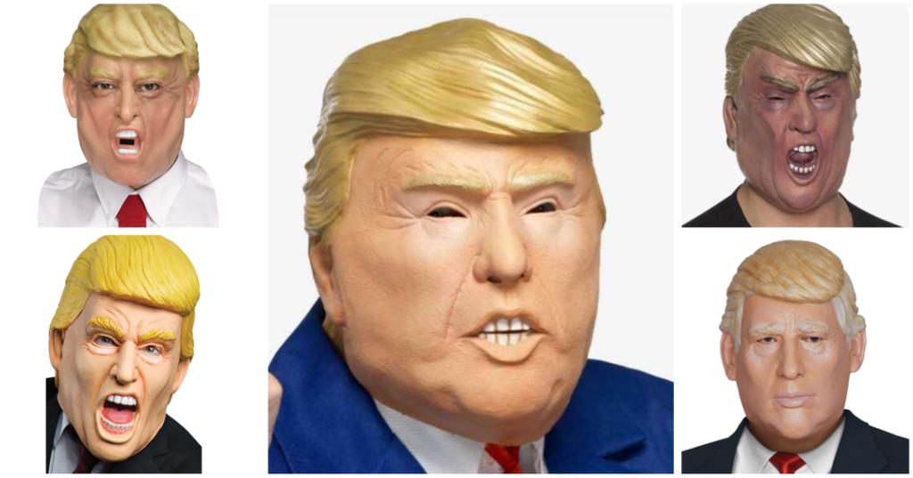 stort udvalg af Donald Trump masker8D