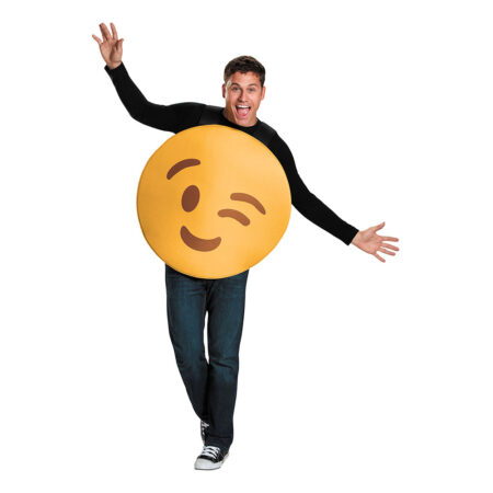 Emoji Wink Kostume 450x450 - Emoji kostume til voksne