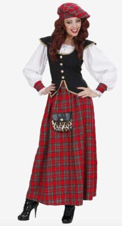 Feminint skotte kostume 244x450 - Skotte kostume til voksne