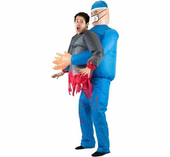 Oppustelig doktor kostume - Oppustelige halloweenkostumer til voksne