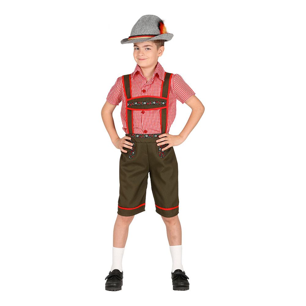 lederhosen børnekostume til oktoberfest - Oktoberfest kostume til børn og baby