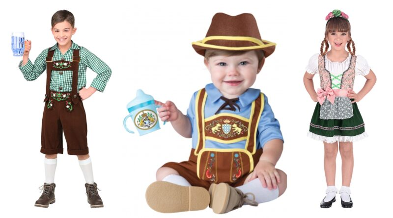 oktoberfest kostume til børn, oktoberfest udklædning til børn, tyroler kostume til voksne, tysker kostume til børn, dirndl kostume til børn, oktoberfest kostumer, sjove fastelavnskostumer til børn, oktoberfest kostumer tilbud