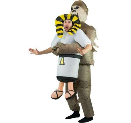 oppustelig mumie kostume 450x422 - Oppustelige halloweenkostumer til voksne