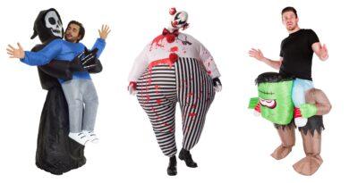 oppustelige halloweenkostumer til voksne, oppustelige kostumer til voksne, uhyggelige kostumer til voksne, sjove kostumer til halloween, halloweenkostumer tilbud,