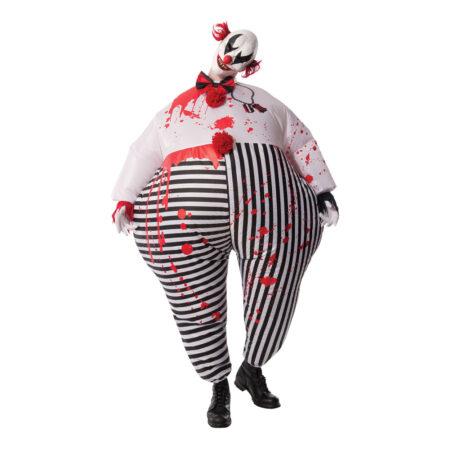 oppustelige uhyggelig klovn kostume 450x450 - Oppustelige halloweenkostumer til voksne