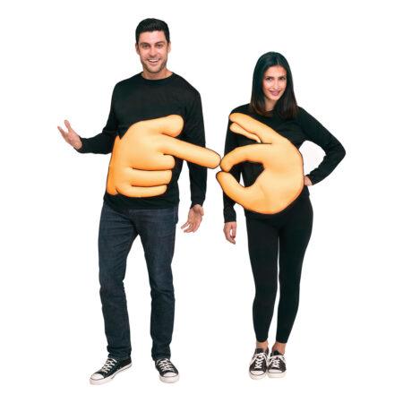 pege og ok tegn kostume 450x450 - Emoji kostume til voksne