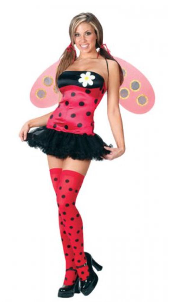 sexet mariehøne kostume - Mariehøne kostume til voksne