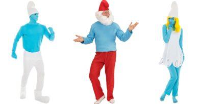 smølfe kostume til voksne 1 390x205 - Smølfe kostume til voksne