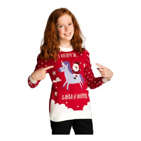 Juletrøje med enhjørning 450x450 - Jule sweater til børn