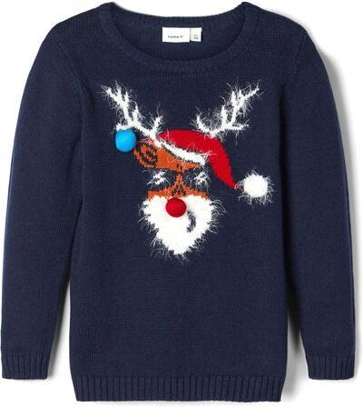 Name it rudolf juletrøje til børn - Jule sweater til børn