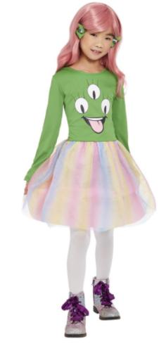 alien kjole rumvæsen kostume til piger halloween kostume til pigeer