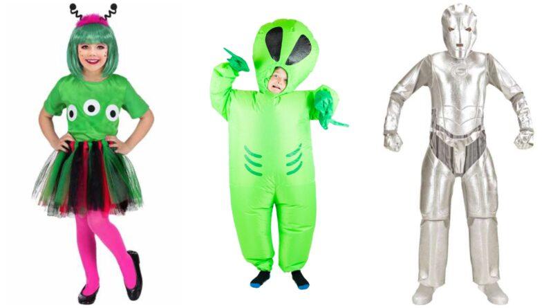 alien kostume til børn, alien børnekostume, alien udklædning til børn, rumvæsen kostume til børn, rumvæsen børnekostumer, halloween børnekostumer