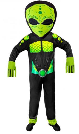alien kostume til børn alien børnekostume med maske halloween kostume til børn