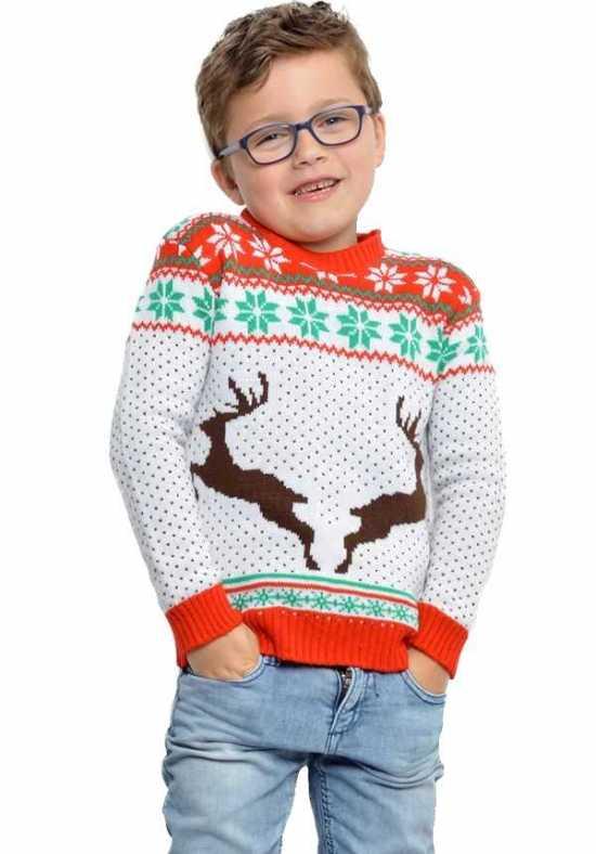 juletrøje til børn hvid - Jule sweater til børn
