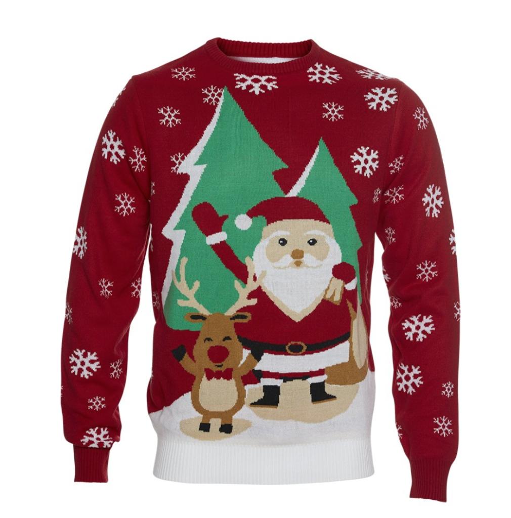 rød juletrøje til børn 1010x1024 - Jule sweater til børn
