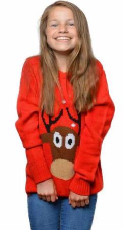rudolf sweaters bluse med rudolf julesweaters til piger rød julesweaters rensdyr trøje
