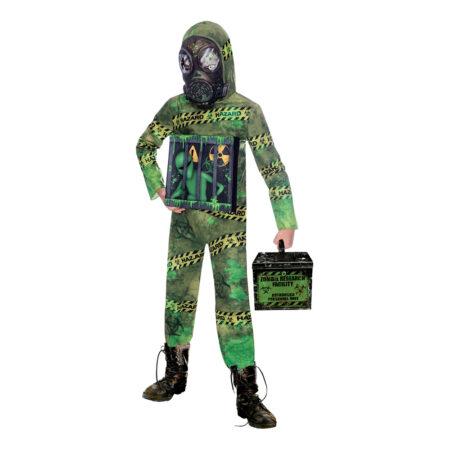 zombie alien halloween karantæne udklædning børnekostume