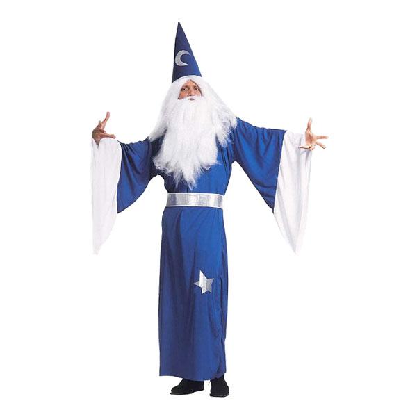 Blå troldmand kostume - Troldmand kostume til voksne