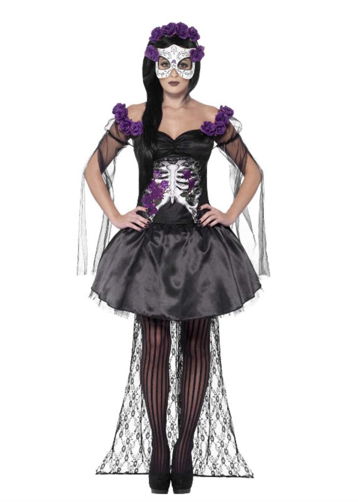 Dødens Señorita Kostume 730x1024 - De dødes dag kostume til de voksne