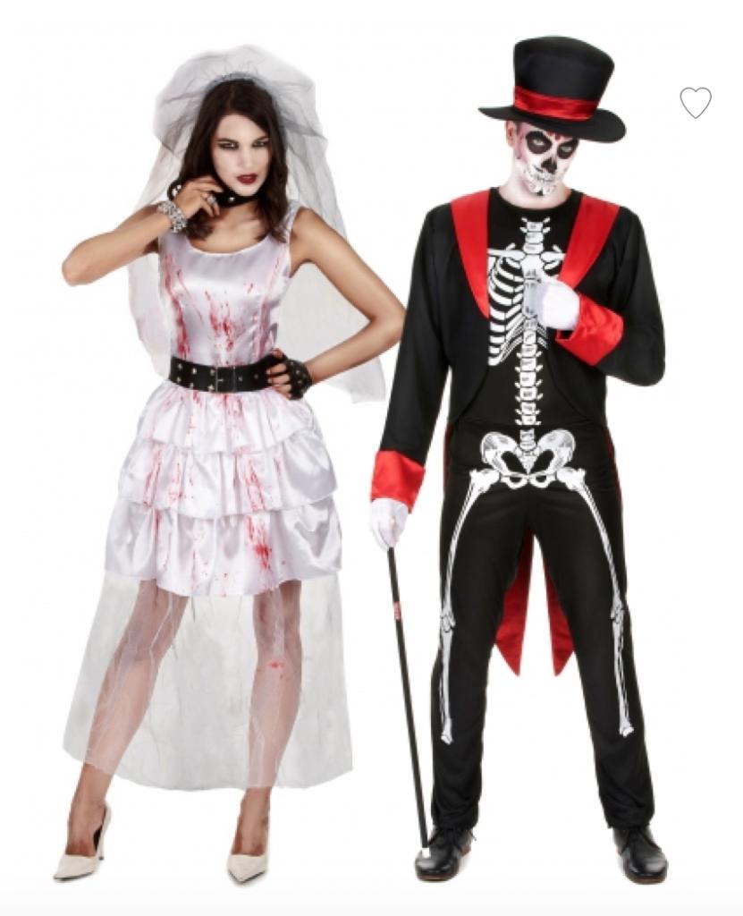 brudepar halloween kostume til par 831x1024 - Halloween par kostume til voksne
