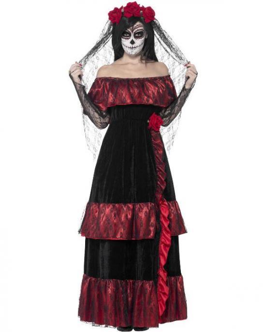 dødens brud kostume - De dødes dag kostume til de voksne