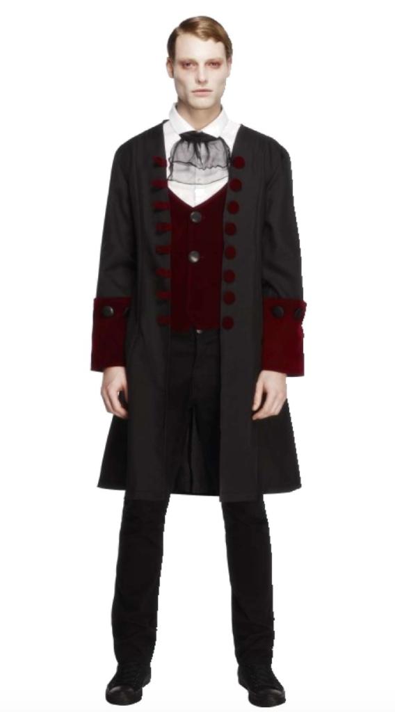 gotisk dracula kostume 568x1024 - Dracula kostume til voksne