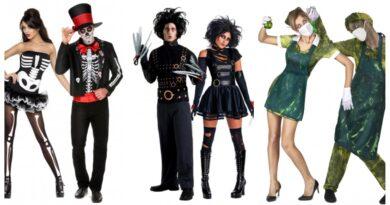 halloween par kostume til voksne, parkostumer til voksne, uhyggelige kostumer til par, halloween kostume til voksne, halloween voksenkostumer, halloween kostumer, halloween udklædning til voksne, gyserfilm kostume til voksne