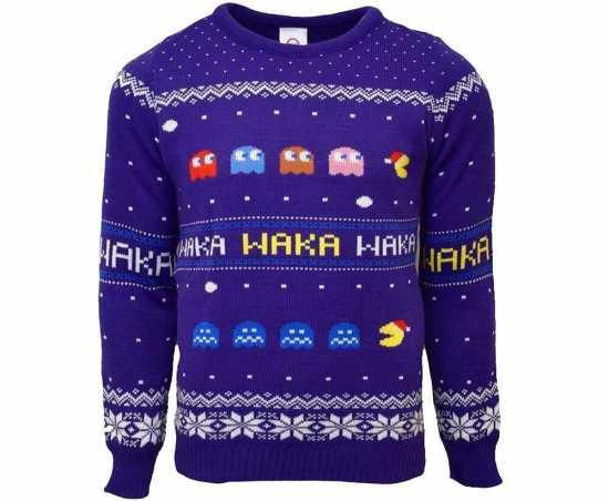 pacman julesweater unisex - Julesweater til mænd