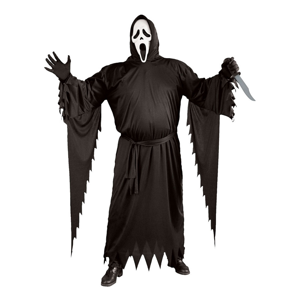 scream kostume plus size - Plus size kostume til halloween
