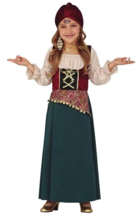 sigøjner børnekostume gypsy kostume til børn spåkone udklædning til pige
