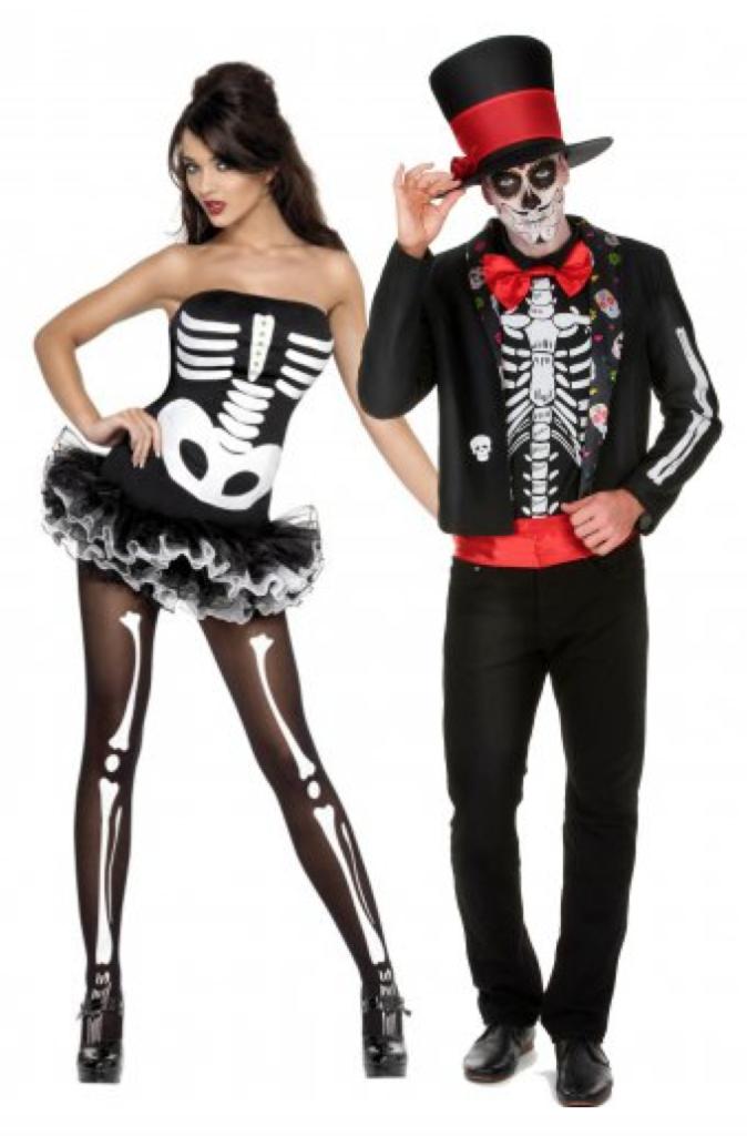 skelet par kostume til voksne 674x1024 - Halloween par kostume til voksne