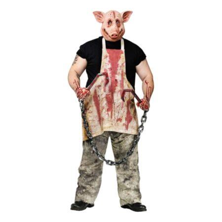 slagter gris film halloween kostume til voksne gysrfilm kostume til voksne halloweenfest udklædning maske