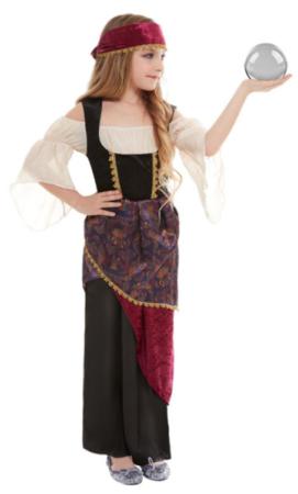 spåkone kostume itl barn sigøjner kostume pige gypsy børnekostume