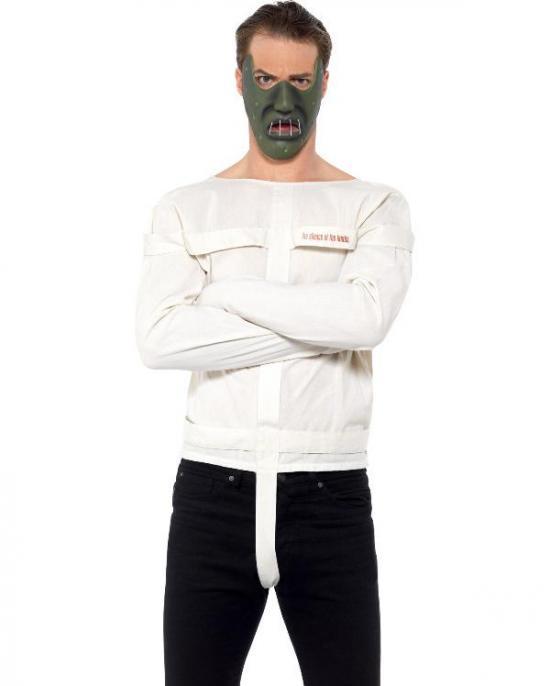spændetrøje kostume - Sindssyg kostume til voksne