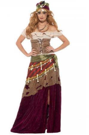 voodoo præst ukult spåkone voksen kostume