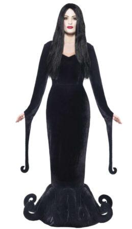 morticia kostume familiens addams kostume til voksne