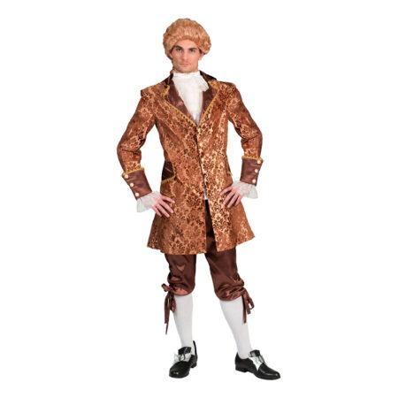 guld kostume mandelig barok kostume til voksne