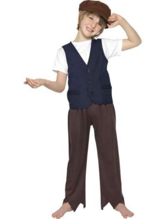 viktoriansk drange fattig dreng kostume gadedreng kostume til drenge
