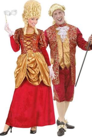 barok parkostume renæssaince kostume til voksne markise kostme til par rædt markise kostume