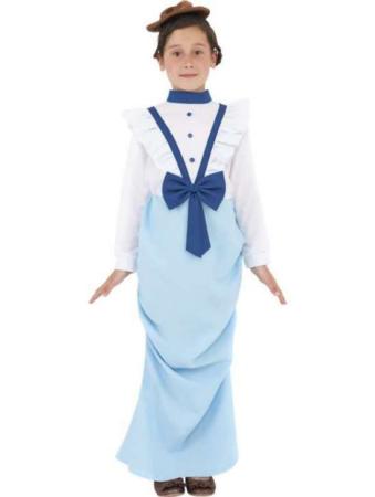 viktoriansk overklasse kostume til børn viktoriansk overklasse pige børnekostume