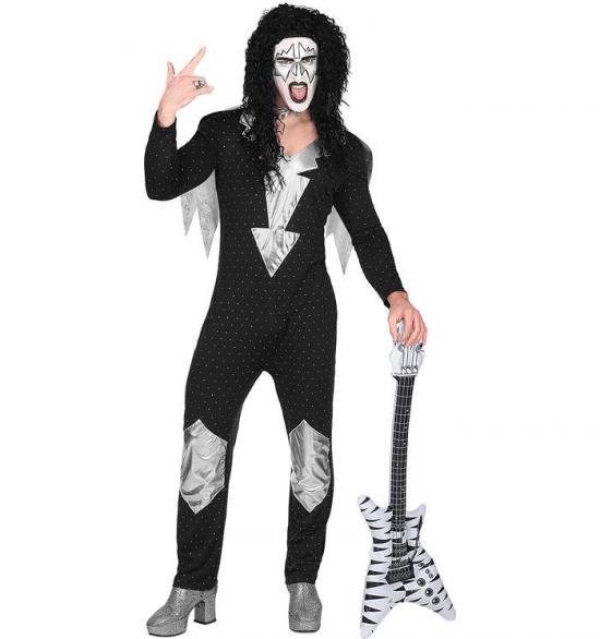 Heavy metal rockstjerne kostume - Rockstjerne kostume til voksne