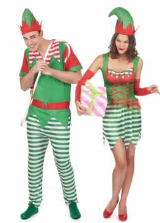 Parkostume nisser til jul voksne 322x450 - Julekostumer til par