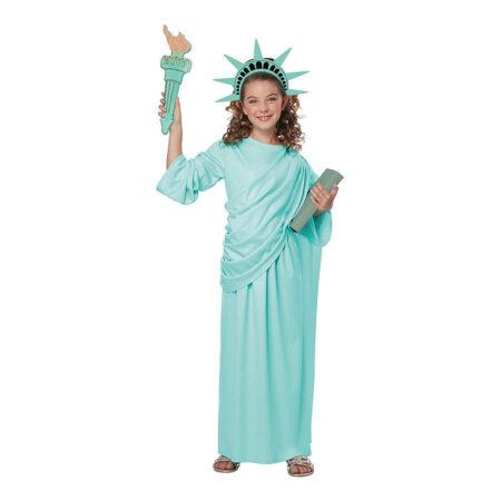 frihedsgudinde kostume til børn amerikansk kostume til piger USA kostume
