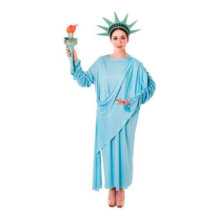 frihedsgudinde kostume til kvinder USA kostume til voksne amerikansk statue kostume