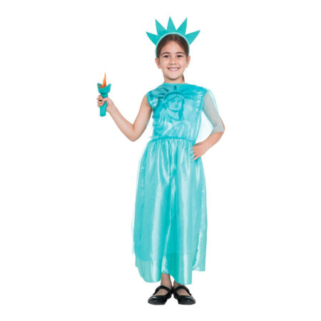 frihedsgudinde kostume til piger USA kostume til børn