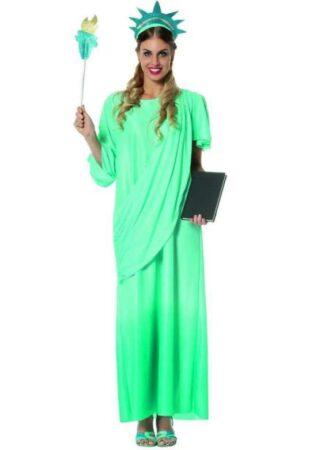 frihedsgudinde kostume til voksne amerikansk kostume til voksne USA kostume grønt kostume