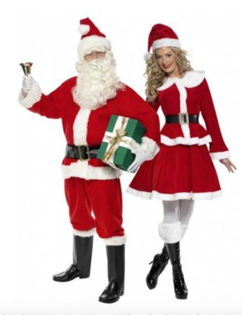 julemand og julekone parkostume 346x450 - Julekostumer til par